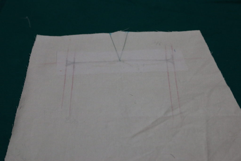 "Attach Interfacing on Back Leg Piece. It is 2"" by 6"" wide."