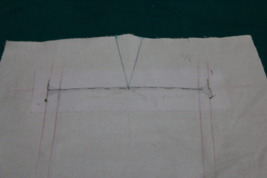 This is how hand stitch looks from the wrong side.