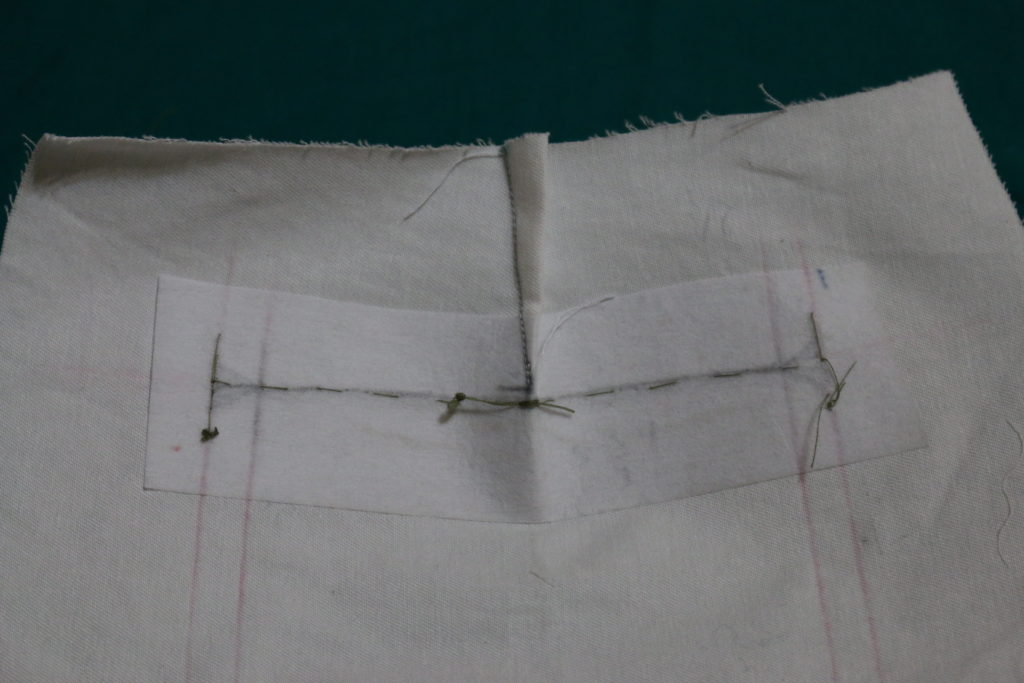 Note the exact place of slit under the dart ending. Do more hand stitching on that point.