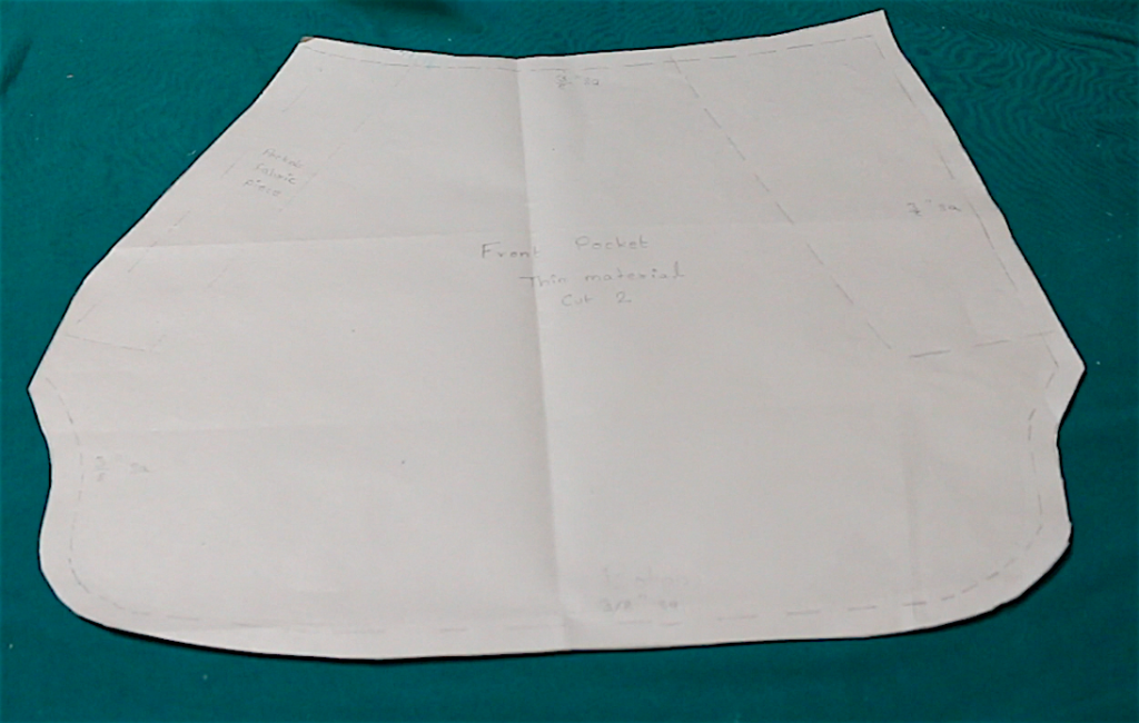 Front Pocket. Thin fabric. This material is not the same as your shorts fabric.